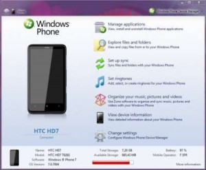 Windows Phone Device Manager