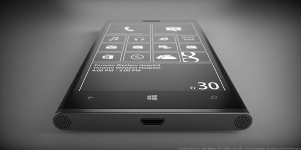 Nokia Lumia 999. Вид снизу