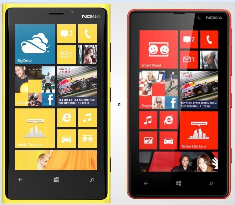 Сравнение Lumia 920 и Lumia 820